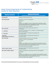 Paperwork & Credentialing Guide