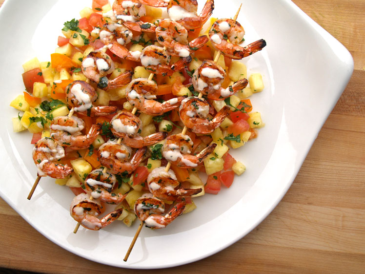 Grilled Shrimp With Pineapple Salsa