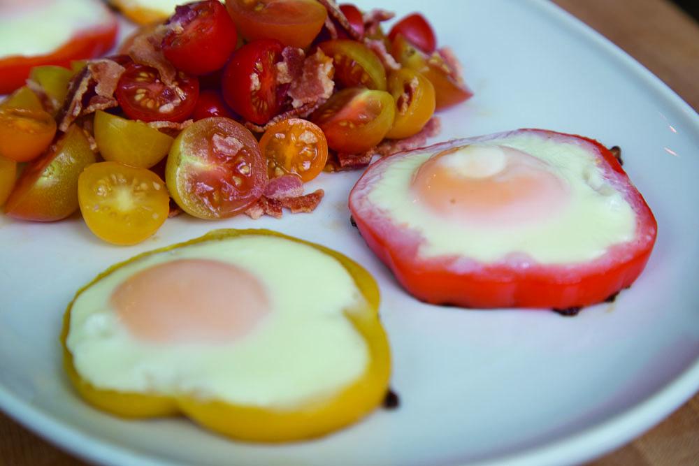Italian Breakfast Salad With Sunny Side Eggs